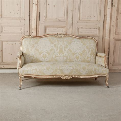 Antique Furniture Sofa by 19th Century Carved Antique Italian Gilt Wood Rococo Sofa