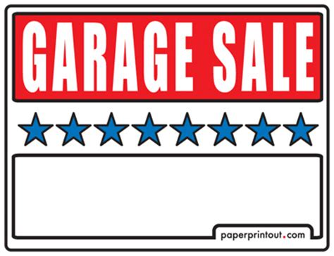 sale signs printable garage sale signs free printable and downloadable