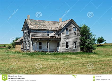 house plans country farmhouse abandoned home in nebraska royalty free stock images