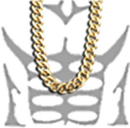 gold chain roblox  shirt muscle full size png image pngkit