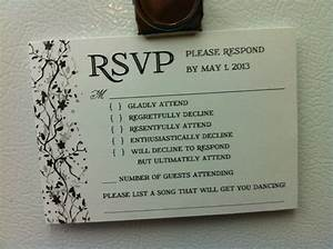 Wedding invitation response card wording funny for Fun rsvp wording for wedding invitations