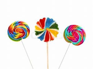 Colorful lollipops isolated on the white background ...