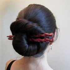hair sticks styles hair styles big nautilus bun with twisty sticks 3327