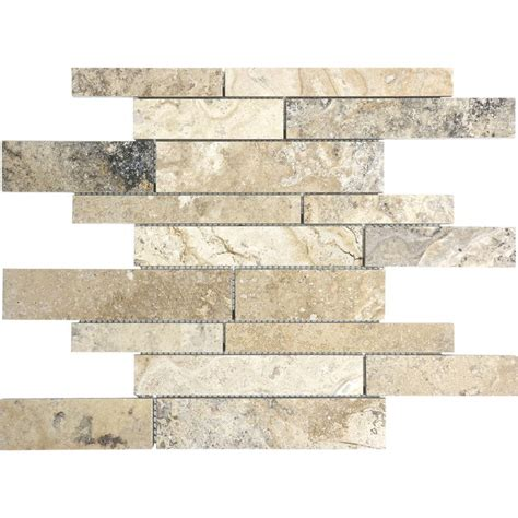 shop pablo travertine mosaic wall tile common 12 in x 12 in actual 12 in x 12