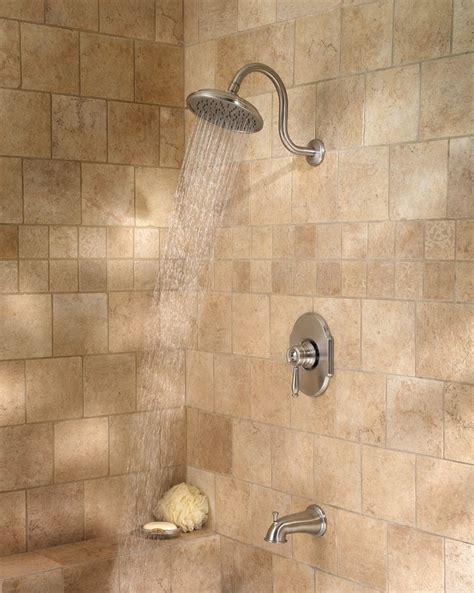 pfister hanover  handle tub shower faucet brushed