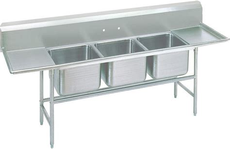 3 compartment sink dishwasher advance tabco 93 23 60 18rl 103 quot three compartment sink w