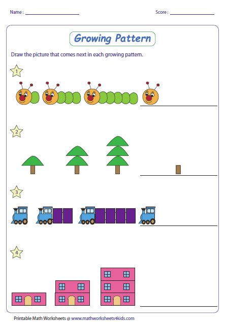 math pattern worksheets with different levels for ages k 8