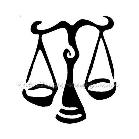 Balance Pochoir Tatouage Temporaire Signe Du Zodiaque