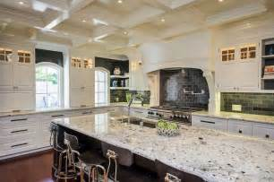 kitchen island alternatives white granite in a high contrast kitchen decoist