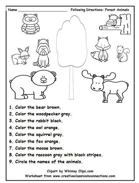 forest animal worksheets animal worksheets preschool