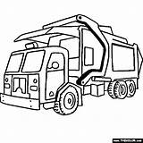Coloring Dump Truck Printable Related sketch template