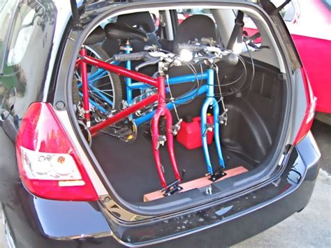 We've got all the honda fit bike racks that you need at autoaccessoriesgarage.com! Bicycle inside honda fit
