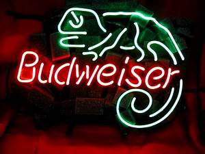 Lizard Budweiser Neon Light Sign 16