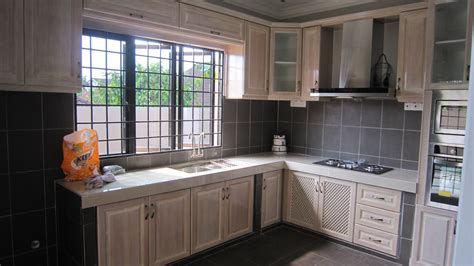 kabinet dapur kayu pine desainrumahidcom