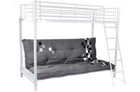 lit mezzanine avec canapé lit mezzanine blanc 90x190 avec canapé clic clac lust
