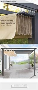 Diy pergola retractable roof shade http wwwuk for Patio furniture covers xl