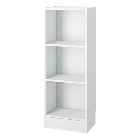 Narrow Shelf by Narrow 3 Shelf Bookcase In White 7177449