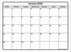 Monthly Yearly 2018 Calendar Template Excel Word