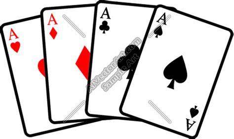 aces poker hand clipart  vectorart misc graphics