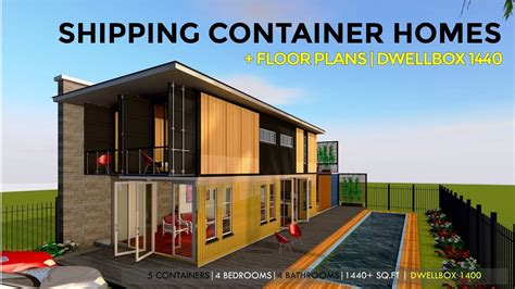 shipping container homes plans  modular prefab design ideas dwellbox  youtube