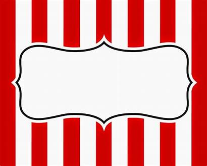 Carnival Signage Sign Blank Circus