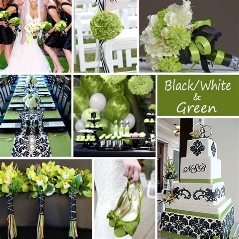black white and green wedding colors weddingplanning
