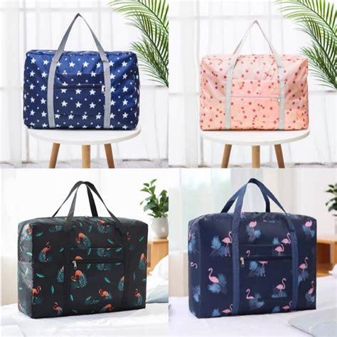 (Huik) Folding travel bag Luggage bag Large capacity ...