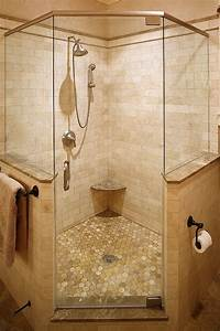 corner shower in master, but with double shower heads and ...