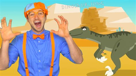 blippi volcano  dinosaur song science  children