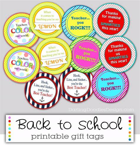 Back to School Teacher Gift Tag Printable