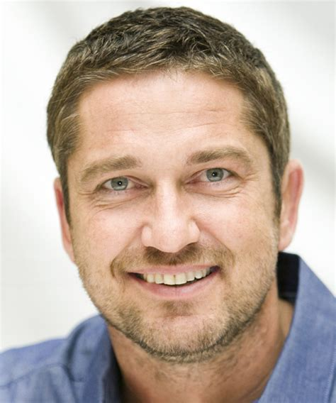 Gerard Butler Short Straight Casual Hairstyle