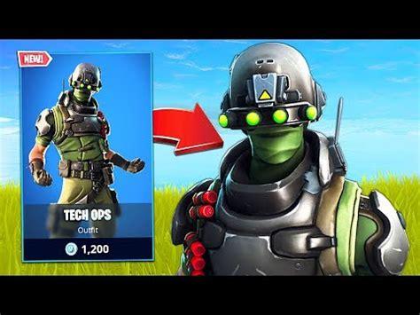 tech ops soldier skin fortnite battle royale youtube