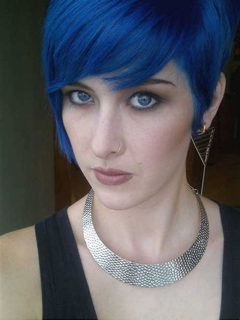Blue And Hairstyles by 10 New Blue Pixie Cut