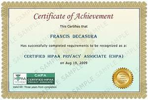certified hipaa privacy associate certification With hipaa training certificate template