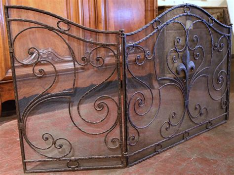 Iron Fireplace Screen Antique Top Fireplaces Iron Fireplace Screen Popular Choice Safety