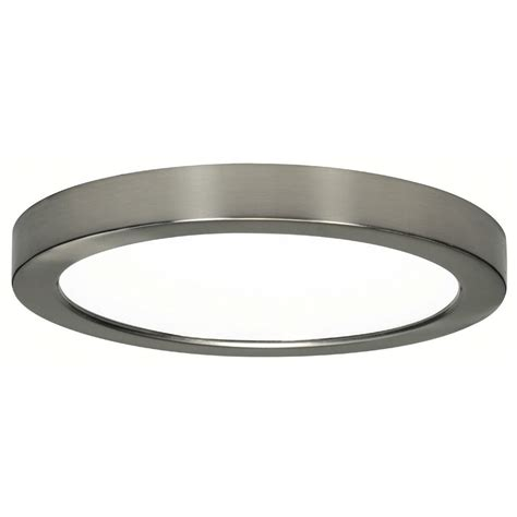 low profile led ceiling light 9 inch round nickel low profile led flushmount ceiling