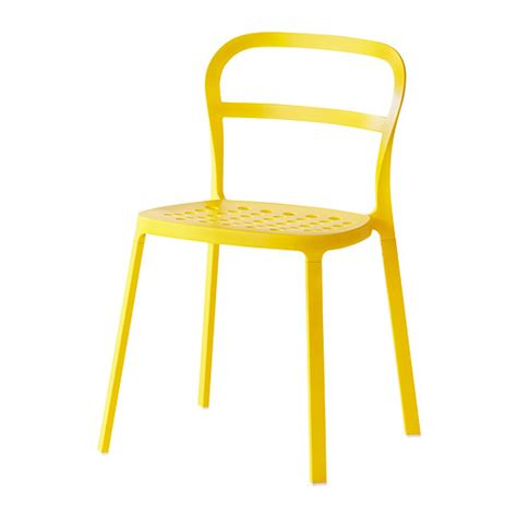 chaises jaunes reidar chair in outdoor ikea