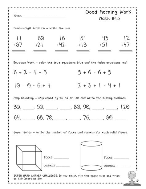 free good morning work quot tester pages quot common core aligned daily math warm ups top teachers