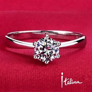 italian 1carat 6mm cz diamond wedding rings for women With italian wedding ring