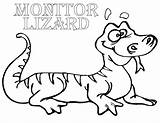 Lizard Coloring Pages Monitor sketch template