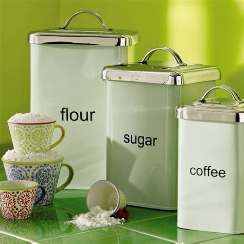 Kitchen Canisters Green by Mint Green Metal Canisters Pier One Kitchen Coffee