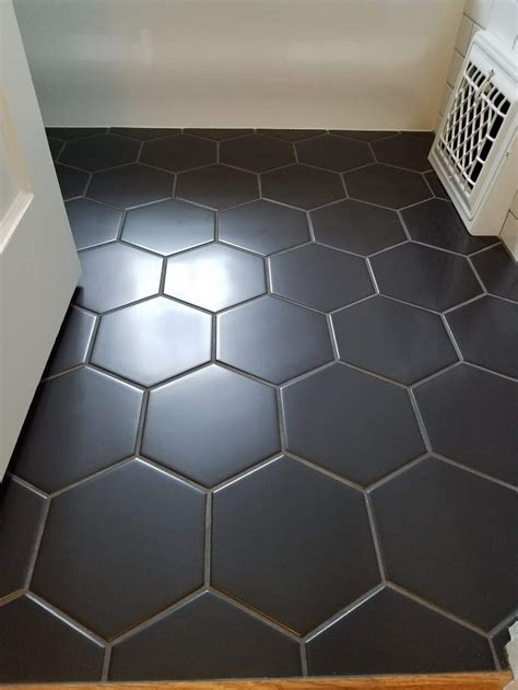 honeycomb tile black trendy bathroom tiles black