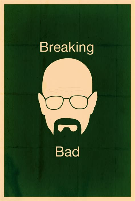 breaking bad minimalist poster  heizenberg effect