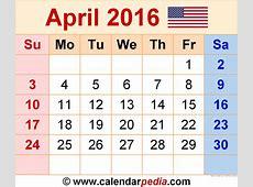 April 2016 Calendar Excel – 2017 printable calendar