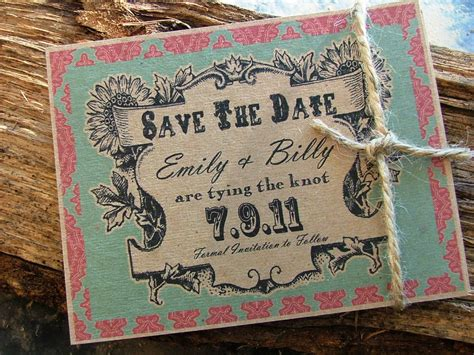 Rustic Save the date cards country wedding save the dates
