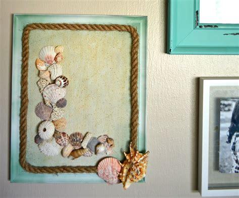 Big offer 8101 diy tropical beach palm leaves wall sticker. DIY Seashell Monogram Beach Wall Decor | theMRSingLink