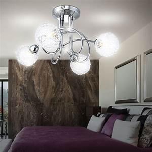 Lampe 5 Flammig : decken leuchte lampe alu kugel geflecht chrom 4 flammig ~ Lateststills.com Haus und Dekorationen