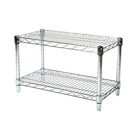 kitchen cabinet wire shelving 14 quot depth chrome wire shelving unit with 2 shelves 5867