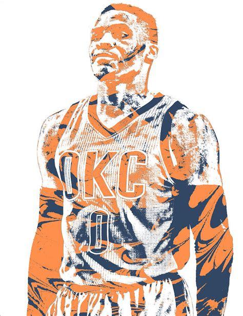 Russell Westbrook Oklahoma City Thunder Pixel Art 35 Mixed