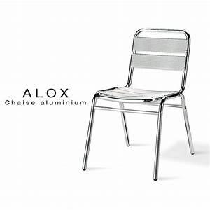 Chaise De Jardin Aluminium : chaise aluminium alox pour terrasse de caf et jardin ~ Teatrodelosmanantiales.com Idées de Décoration